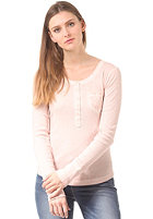 LEVIS Womens Woven Pocket Henley Longsleeve n9615 pink sand