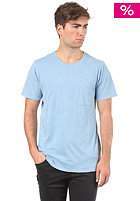 LIFETIME Pocket Crew S/S T-Shirt heather blue
