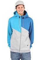 LIGHT Ace Hooded Zipper grey heather/blue/electric blue