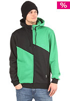 LIGHT Ace Hooded Zipper kelly green/black