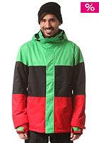 LIGHT Astro Jacket flash green/black/red