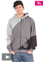 LIGHT Bar Hooded Zip Sweat black/grey/heather grey