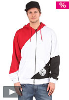 LIGHT Bar Hooded Zip Sweat red/white/black