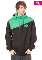 LIGHT Bug Hooded Zip Sweat Black/Kelly Green