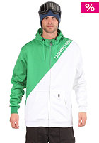 LIGHT Corp Hooded Zip Sweat kelly green/white
