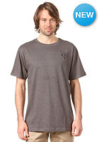 LIGHT Cross Embroidery S/S T-Shirt charcoal melange