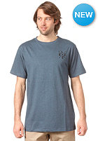 LIGHT Cross Embroidery S/S T-Shirt deep blue melange