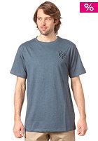 LIGHT Cross Embroidery S/S T-Shirt deep blue melange