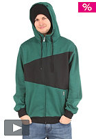 LIGHT Double Hooded Zip Sweat bottle green/black