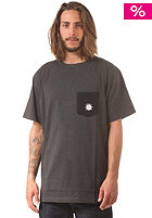 LIGHT Fluid S/S T-Shirt dark grey heather/black