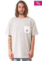 LIGHT Fluid S/S T-Shirt grey heather/white