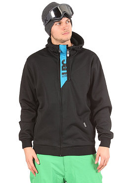 LIGHT Front Hooded Zip Sweat black/electric blue