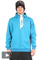 LIGHT Front Hooded Zip Sweat electric blue/white