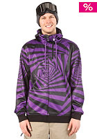 LIGHT G52 Hooded Zip Sweat Purple/Black