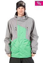 LIGHT Jackson Snow Jacket Grey Heather/Kelly Green