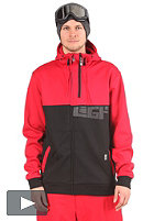 LIGHT LGT Hooded Zip Sweat red/black