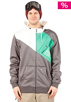 LIGHT Militia Hooded Zip Sweat 2013 Grey/White/K. Green
