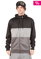 LIGHT Sailor Hooded Zip Sweat Black/L. Grey/Grey