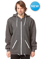 LIGHT Solo Hooded Zip Sweat dark grey heather