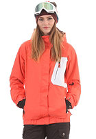 LIGHT Womens Bepop Jacket coral red white