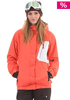 LIGHT Womens Bepop Snow Jacket coral red white