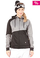 LIGHT Womens Charm Fleece Snow Jacket Light Grey/Black