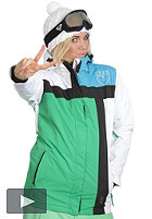 LIGHT Womens Crusader Jacket kelly green/white/electric blue/black