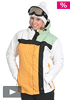 LIGHT Womens Crusader Jacket peach/white/lime/black