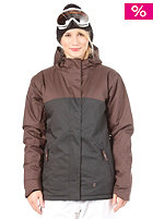 LIGHT Womens Crusader Snow Jacket Black/Brown