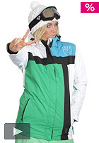 LIGHT Womens Crusader Snow Jacket kelly green/white/electric blue/black