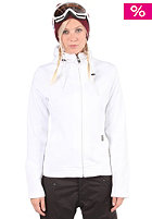 LIGHT Womens Cute Hooded Zip Sweat white
