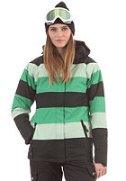LIGHT Womens Flag Jacket kelly green lime black