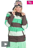 LIGHT Womens Flag Snow Jacket kelly green/lime/brown