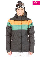 LIGHT Womens Flag Snow Jacket Orange/Amazon/Black