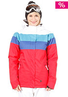 LIGHT Womens Flag Snow Jacket Red/White/E. Blue/D. Blue