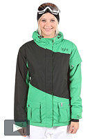LIGHT Womens Flood Jacket kelly green/black