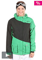 LIGHT Womens Flood Snow Jacket kelly green/black