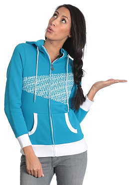 LIGHT Womens Gloria Hooded Zip Sweat electric blue/white/pattern