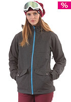 LIGHT Womens June Snow Jacket dark grey heather