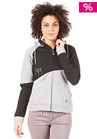 Womens Lounge Hooded Zip Sweat Black/Grey Heather