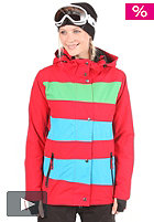 Womens Mia Jacket red/electric blue/kelly green
