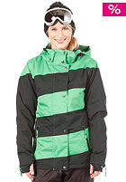 LIGHT Womens Mia Snow Jacket black/kelly green