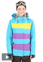 LIGHT Womens Mia Snow Jacket electric blue/purple/yellow