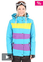 LIGHT Womens Mia Snow Jacket electric blue/purple/yellow