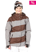 LIGHT Womens Mia Snow Jacket grey heather/brown