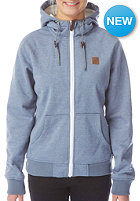 LIGHT Womens Path Hooded Zip Sweat blue heather