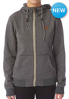 LIGHT Womens Path Hooded Zip Sweat dark grey heather