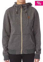 Womens Path Hooded Zip Sweat dark grey heather