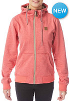 LIGHT Womens Path Hooded Zip Sweat red heather