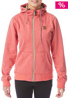 Womens Path Hooded Zip Sweat red heather